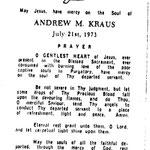 Kraus, Andrew M. - 1973