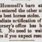 Hempstead Sentinel - Hummel's Barn - July 1904