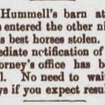 Hempstead Sentinel - Hummel's Barn - July 1904