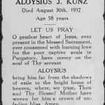 Kunz, Aloysius - 1937
