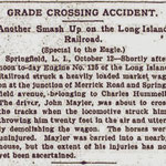 Brooklyn Daily Eagle - Grade Crossing Accident  - Oct. 1897