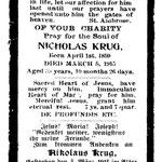 Krug, Nicholas - 1915