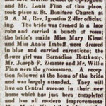 Hempstead Sentinel - Kiesel & Finn Marriage - Feb. 13, 1908