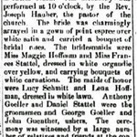 Hempstead Sentinel - John Stattel & Mary Goeller  Marriage - Jan. 23, 1902