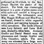 Hempstead Sentinel - John Stattel & Mary Goeller  Marriage - Jan. 23, 1902