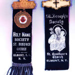Holy Name Society, St. Joseph's Society, St. Boniface Badges