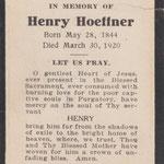 Hoeffner, Henry - 1920