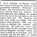 Hempstead Sentinel - Chris Gunther WWI I - March 21, 1918