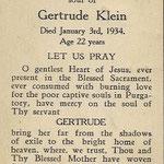 Klein, Gertrude - 1934