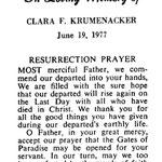 Krumenacker, Clara F. - 1977