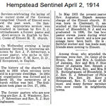 Hempstead Sentinel - St. Paul's Church Corner Stone Celebration - April, 2, 1914