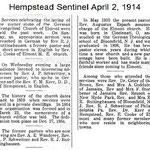 Hempstead Sentinel - St. Paul's Church Corner Stone Celebration - April, 2, 1914