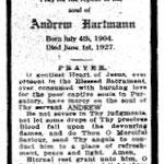 Hartmann, Andrew - 1927