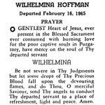 Hoffman, Wilhelmina - 1965