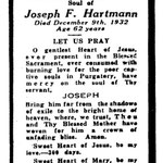 Hartmann, Joseph F. - 1932