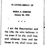 Diemicke, Maria A. - 1978