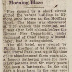 Nassau Daily Star - Fire Destroys Old Landmark - Former Hoeffner Hotel, Elmont Gutted in Early Morning Blaze - Jan. 2, 1932