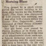 Nassau Daily Star - Fire Destroys Old Landmark - Former Hoeffner Hotel, Elmont Gutted in Early Morning Blaze - Jan. 2, 1932