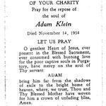 Klein, Adam - 1954