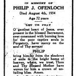 Ofenloch, Philip J. - 1934