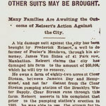 Brooklyn Eagle - Reisert Sues City To Recover $60,000 - (page 1 of 2) - Oct. 19, 1900