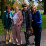 Descendants visitng the cemetery with Sister Barbara