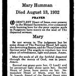 Humman, Mary - 1932