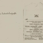 Young Farmers Light Guard Invitation - Robert Sappelt - October 2, 1905