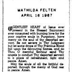 Felten, Mathilda - 1967
