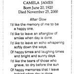 James, Camela - 2000