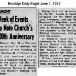 Brooklyn Daily Eagle - St. Boniface 100th Year - June 1, 1952