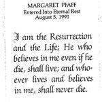 Pfaff, Margaret - 1991
