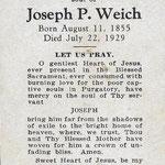Weich, Joseph P. - 1929