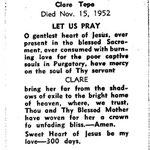 Tepe, Clare - 1952