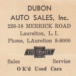 Long Island Daily Press - Dubon Auto Sales - circa 1938