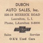 Long Island Daily Press - Dubon Auto Sales - circa 1938