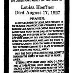 Hoeffner, Louisa - 1927