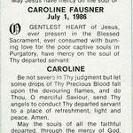 Fausner, Caroline - 1986
