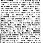 Hempstead Sentinel - Wedding Anniversary - Mr. and Mrs John Stattel - Jan 20 , 1922