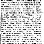Hempstead Sentinel - Wedding Anniversary - Mr. and Mrs John Stattel - Jan 20 , 1922