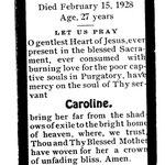 Christ, Caroline - 1928