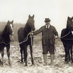 Philip N. Hoeffner and his horses, Montgomery, NY