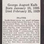 Kalb, George August  - 1929