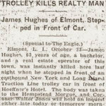 Brooklyn Eagle - Trolley Kills Realty Man - October 10, 1916