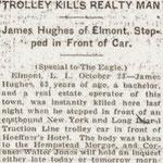 Brooklyn Eagle - Trolley Kills Realty Man - October 10, 1916