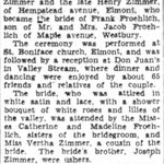 Nassau Daily Review - Miss Zimmer Bride of Frank Froehlich - December 8, 1931