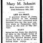 Schmitt, Mary M. - 1928