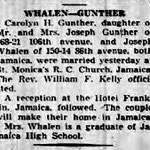 Long Island Press  - Whalen - Gunther Marriage - March 31, 1936