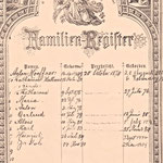 Hoeffner, Anton and Katherine - Family Bible - 1st page, children listed