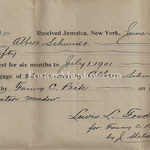 Interests for 6 months on mortgage - Albert Schmitt - Fosters Meadow - June 29, 1902